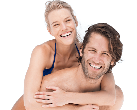 Couple with Healthy Teeth