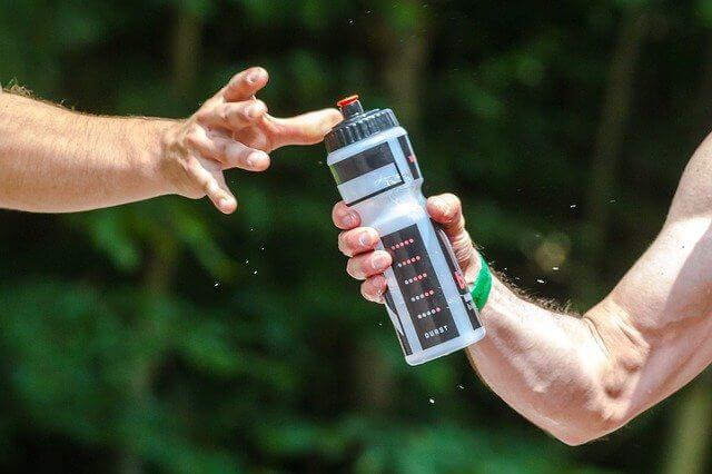 Drink water in sports